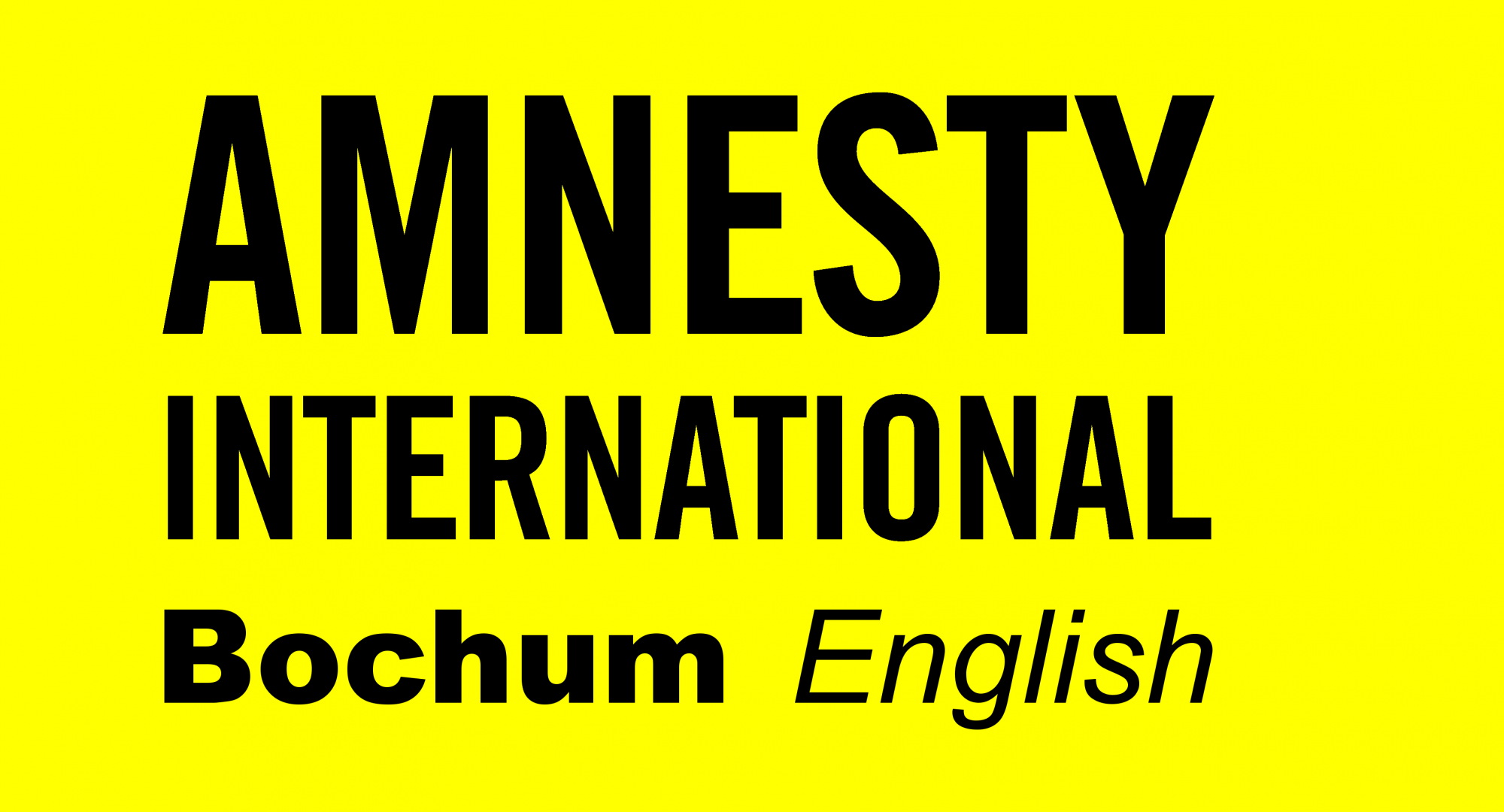 Amnesty International Bochum – English-speaking group
